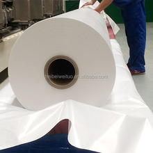 Low density high transparency PP synthetic paper / white BOPP film for light box advertising
