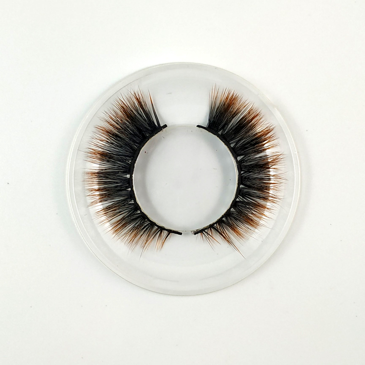 2018 new style high quality  3d silk lashes colorful artificial select eyelashes  False Eye Lash