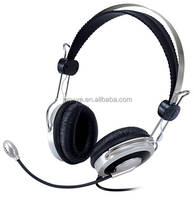 Free Sample Wired Stereo Headset with Microphone for iPhone iPad PC Skype