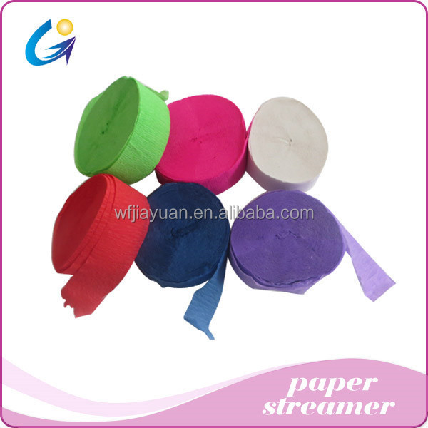Direct manufacturers sales color wrinkles paper streamer for wedding /festival paper/ fan products