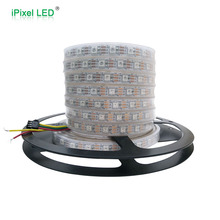 60 leds 5v smd5050 rgb led strip ws2811 ws2812b,waterproof full color led strip