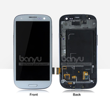 Cell phone parts glass frame touch screen digitizer blue for samsung galaxy s3 i9300 lcd