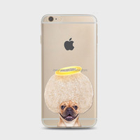 Mobile phone cover cute naughty funny angle puppy dog Soft TPU custom cell phone case For iPhone 4 4S 5C