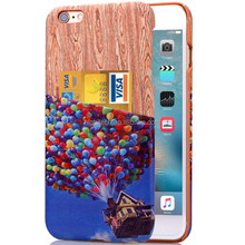 Pixar's Movie UP Case Balloon House Back insert Business Card Cover for Iphone 6 plus/6s plus