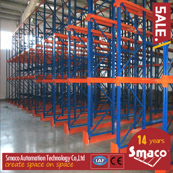 Industrial high Density Storage Drive In Pallet Racking Warehouse drive through rack