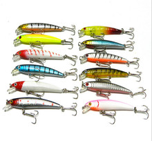 <strong>fishing</strong> lure 12colors Minnow Lure 7.5CM/5.6G <strong>fishing</strong> <strong>bait</strong> <strong>fishing</strong> tackle high carbon steel anchor hook