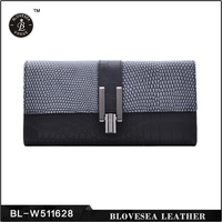 2015 New Arrival High Fashion Genuine Crocodile Skin Wallet For Women