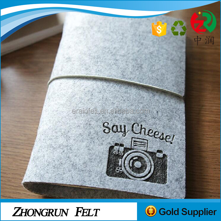 Free packing fee good quality eco-friendly felt notebook cover with big stock