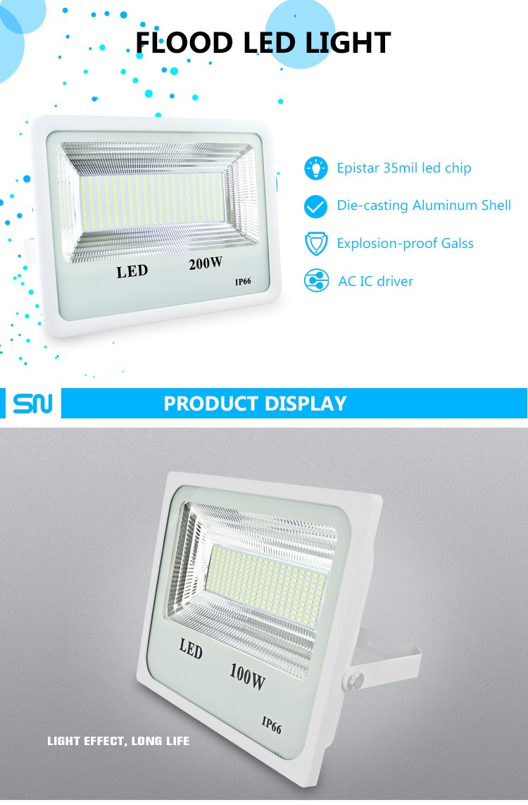 New mold high lumen outdoor waterproof IP66 50W led flood light