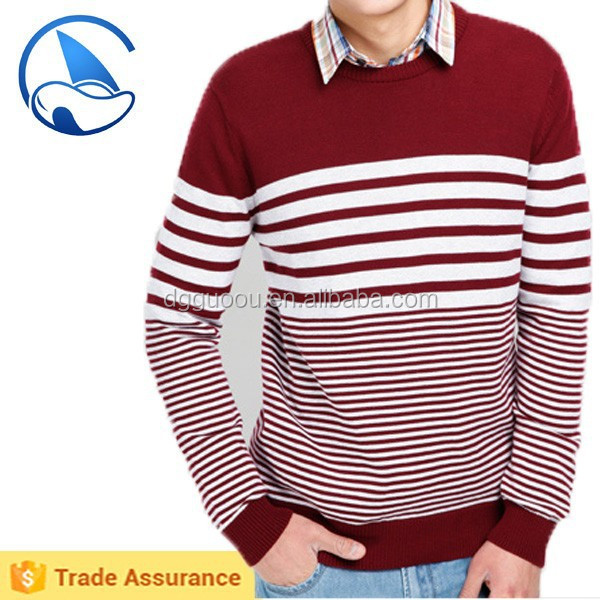 Men casual striped jumpers
