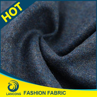 2016 lancong fabric and textile wool, woolen fabric boucle, wool boucle coat fabric