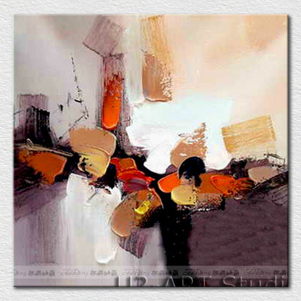 Canvas fine art color abstract painting for hotel room <strong>decoration</strong>