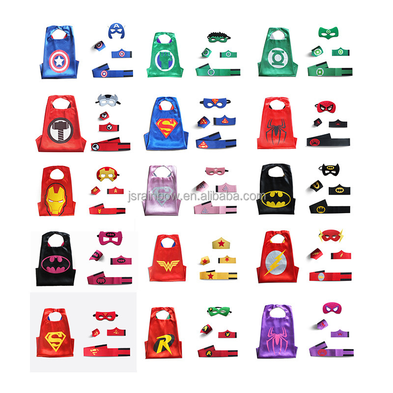 5pcs sets wholesale superhero cape super hero capes and masks