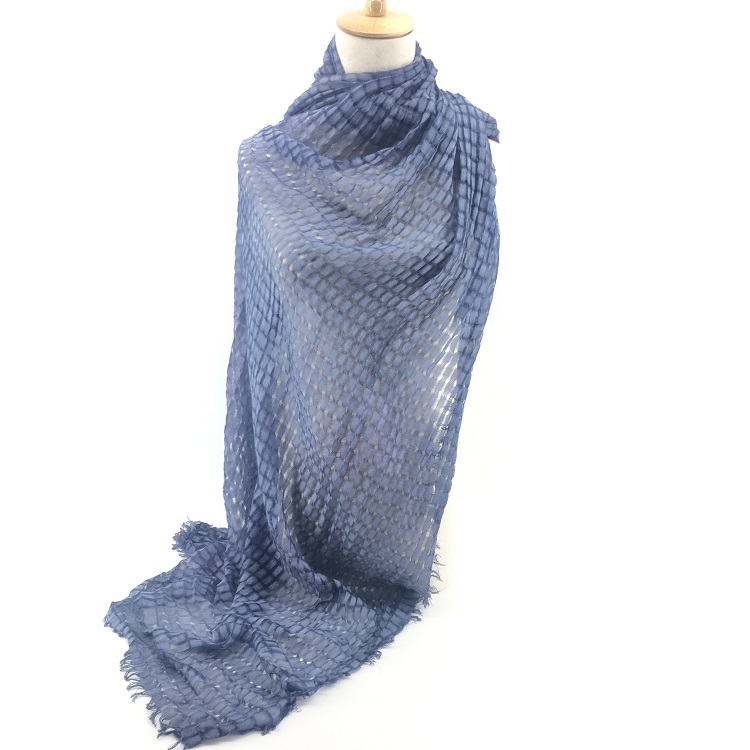 Factory direct cotton hijab plain solid color women viscose scarf rayon shawl with fringe