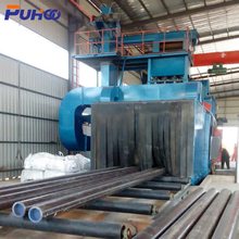 QGW Steel Pipe Shot Blasting Cleaning Machine for Big Steel Pipes and Tubes