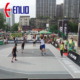 cheap outdoor plastic basketball court flooring tiles