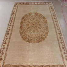 Import Big flower design sheep wool carpet from China
