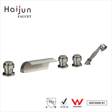 Haijun Super September Purchasing 5 Holes Deck Mounted Sanitary Ware Bathtub Faucets