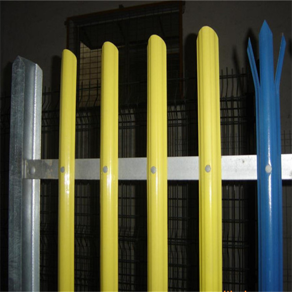 Powder Coated Palisade Iron Metal Fence in <strong>D</strong> Type