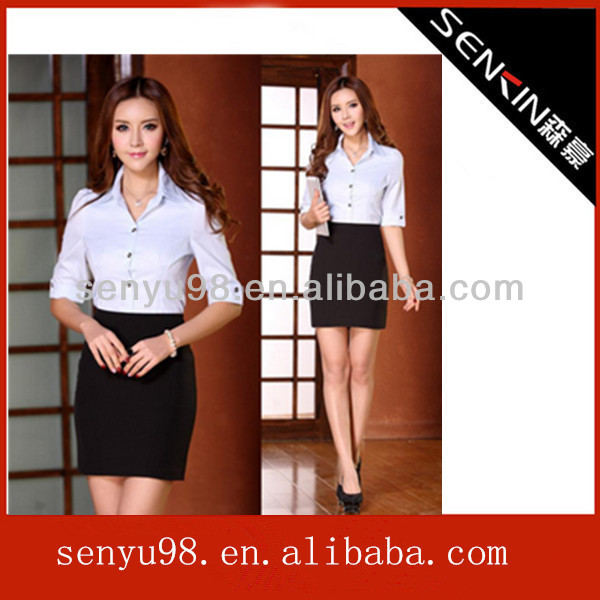 Chinese collar best office uniform for women new style picture