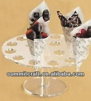 Ice cream cup acrylic carriage cake stand