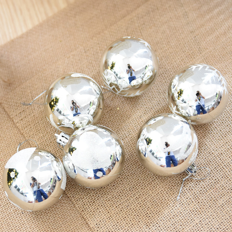 Snowflake Plated christmas Tree decorations ball sdq026