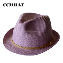 CCM Eco Braids Straw Fedora Hat Brand Hemp for Ladies