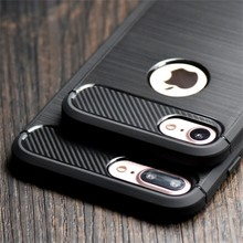 2016 Newest Leather Skin Soft Anti-Skid Anti-Knock Cover Environmental Carbon Fiber Case For iPhone 6/7