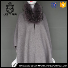 2017 Best Raccoon Fur Knit Ladies Winter Ponchos Poncho Design Shawl And Cape
