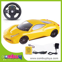 High quailty 1:16 remote control kids steering wheel toy for car seat