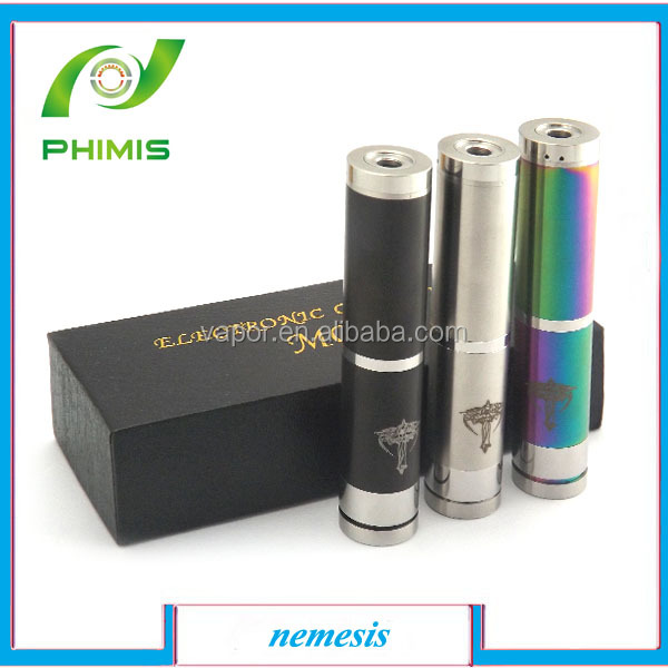 2014 most popular e-cig full mechanical nemesis rda mod with flexiable battery tube