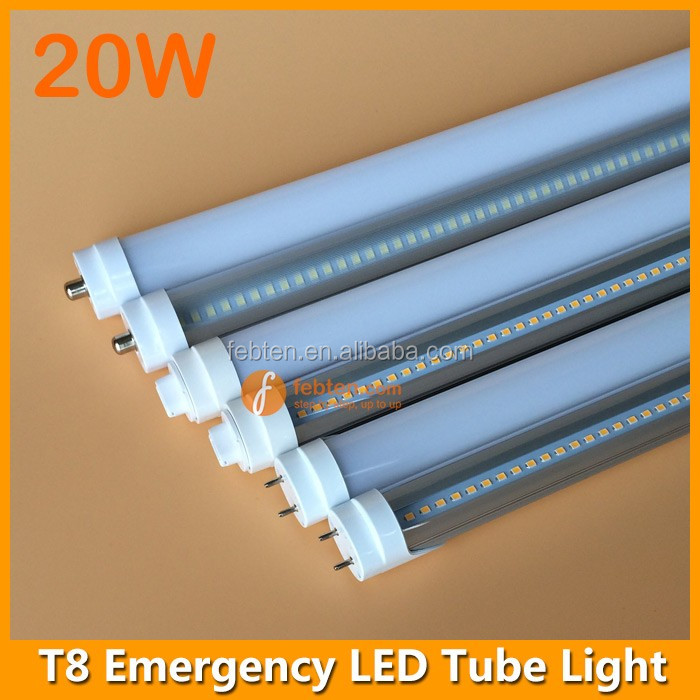 20W automatic rechargeable emergency tube LED light when electricity cut T8