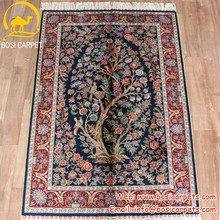 3x4.5ft Bosi home decoration hand knotted tree of life silk carpet