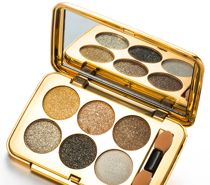 New arrival top quality hot sale naked eye shadow palette 6 colors shimmering eyeshadow powder