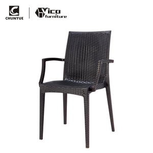 New design indonesia modern outdoor garden arm rattan dining chair