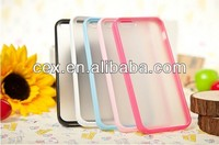 Wholesale - Hybrid Frosted Matte Hard Plastic Back Cover Soft Candy Jelly Silicone Clear PC Case Skin Shell for iphone5