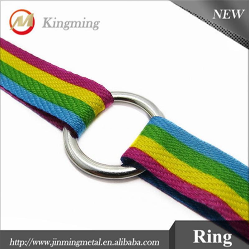 Zinc Alloy Metal Bag Hardware O-Ring For Bags