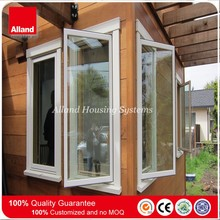 Energy saving white color hand crank aluminum casement window for house building