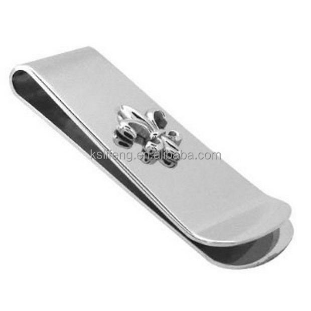 New Silver Money clip Stainless Money clips with Custom own <strong>logo</strong>