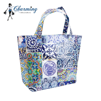 fashion printing large tote bags cheap non woven tote bag