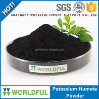 extracted from leonardite potassium humate shiny powder for drip irrigation