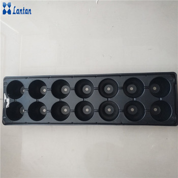 plastic seedling tray for greenhouse planting system