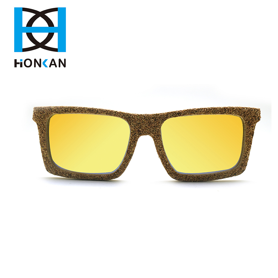Custom fashionable style cork wood sunglasses
