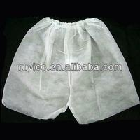 Nonwoven Disposable White Short Boxer Pants