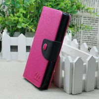 Flip wallet PU Leather case for Sony Xperia Z L36h