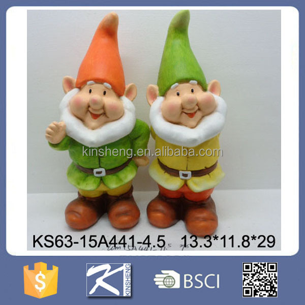 Lovely Ceramic Outdoor Ornament Garden Gnome for Garden Decoration