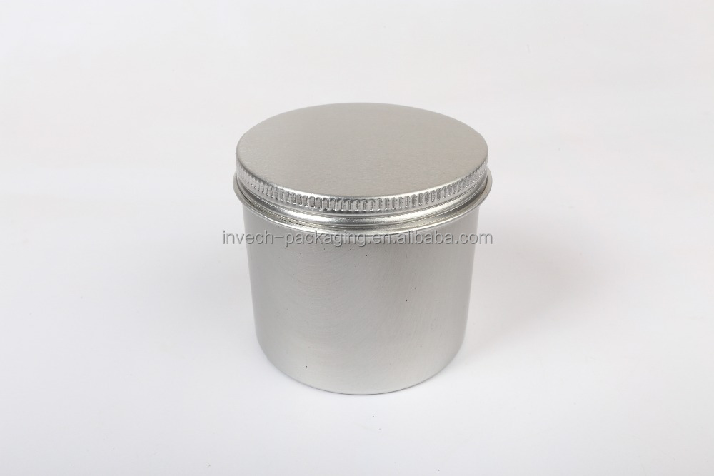 round tall candle tin/screw metal candle tin box/metal can container for candle packaging