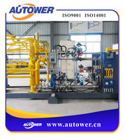 movable skid loader for dangerous liquid with safety alarm