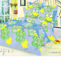 pigment and disperse thermal transfer fabric flower printing printed polyester microfiber fabric for bed sheet and mattress