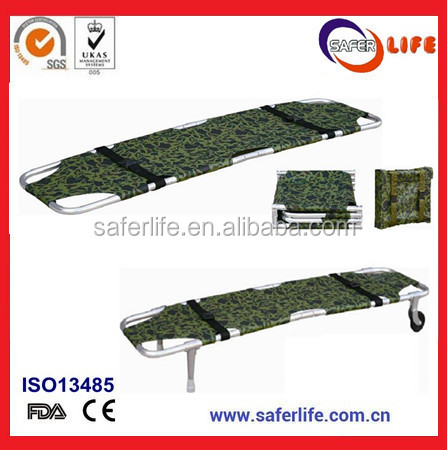 Sales Ambulance Board Transfer Patient Aluminum Alloy Foldaway Stretcher Hospital Medical Stretcher Immobilization Spine Board